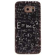 のために Samsung Galaxy ケース パターン ケース バックカバー ケース ワード/文章 TPU Samsung S6