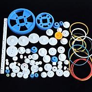 80 tipos de engranaje del motor de engranajes paquete de la caja de cambios Kit de accesorios de robots de plástico