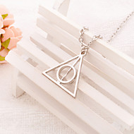 Women's Fashion Jewelry Harry Potter and The Deathly Hallows Vintage/Party/Casual Alloy Triangle Pendant Necklace