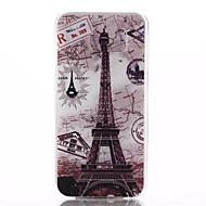 Назначение Кейс для  Samsung Galaxy Чехлы панели Рельефный Задняя крышка Кейс для Эйфелева башня Термопластик для Samsung S6 edge