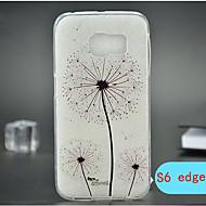 Назначение Кейс для  Samsung Galaxy Чехлы панели Рельефный Задняя крышка Кейс для одуванчик Термопластик для Samsung S6 edge