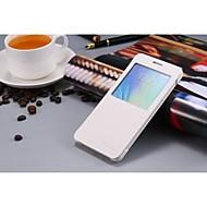 Недорогие Чехлы и кейсы для Galaxy А-Для Кейс для  Samsung Galaxy с окошком / Флип Кейс для Чехол Кейс для Один цвет Искусственная кожа Samsung A7 / Grand