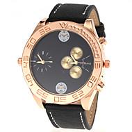 Недорогие Фирменные часы-JUBAOLI Муж. Наручные часы Кварцевый Черный / Белый / Красный С двумя часовыми поясами Аналоговый Кулоны - Желтый Коричневый Красный