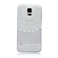 voordelige Galaxy S5 Mini Hoesjes / covers-hoesje Voor Samsung Galaxy Samsung Galaxy hoesje Doorzichtig Achterkant Lace Printing TPU voor S6 edge S6 S5 Mini S5 S4 Mini S4 S3 Mini S3