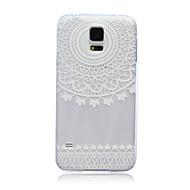 Недорогие Чехлы и кейсы для Galaxy S-Кейс для Назначение SSamsung Galaxy Кейс для  Samsung Galaxy Полупрозрачный Кейс на заднюю панель Кружева Печать ТПУ для S6 edge S6 S5