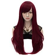 halpa Synteettiset peruukit-Naisten Synteettiset peruukit Hyvin pitkä Suora Punainen Halloween Peruukki Carnival Peruukki Rooliasu peruukki