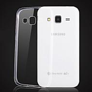 Для Кейс для  Samsung Galaxy Прозрачный Кейс для Задняя крышка Кейс для Один цвет TPU Samsung Core Prime