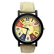 Mulheres Relógio Esportivo Relógio de Moda Quartzo PU Banda Brilhante Preta