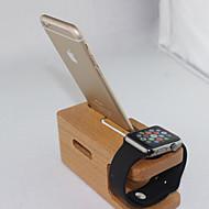 træ oplader stå holder til Apple ur og iPhone 6 plus / 6 / 5s / 5