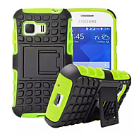 Для Кейс для  Samsung Galaxy Защита от удара / со стендом Кейс для Задняя крышка Кейс для Армированный PC Samsung Young 2 / Grand Prime