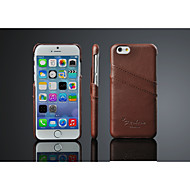 Etui Til iPhone X iPhone 8 iPhone 8 Plus iPhone 6 iPhone 6 Plus Kortholder Bagcover Helfarve Hårdt Ægte læder for iPhone X iPhone 8 Plus