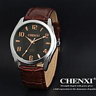 CHENXI® Muškarci Ručni satovi s mehanizmom za navijanje Kvarc Japanski kvarc Koža Grupa Smeđa Obala Crn