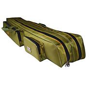 fishdrops kalastus laukku, 39.6l valtava kapasiteetti vesitiivis laivasto vihreä kankaalle 120cm * 20cm * 16.5cm