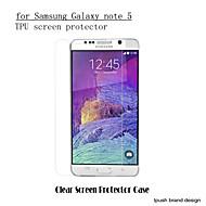 Недорогие Чехлы и кейсы для Galaxy Note-Защитная плёнка для экрана Samsung Galaxy для Note 5 PET Защитная пленка для экрана HD