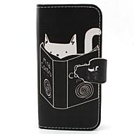 halpa Galaxy S5 Mini kotelot / kuoret-Etui Käyttötarkoitus Samsung Galaxy Samsung Galaxy kotelo Korttikotelo Lomapkko Tuella Flip Suojakuori Kissa PU-nahka varten S6 edge S6