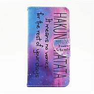 Недорогие Чехлы и кейсы для Galaxy Note-Кейс для Назначение SSamsung Galaxy Samsung Galaxy Note Бумажник для карт Кошелек со стендом Флип Чехол Слова / выражения Кожа PU для