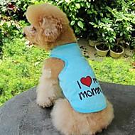 お買い得  -ネコ 犬 Tシャツ 犬用ウェア ハート 文字&番号 オレンジ グレー ブルー ピンク コットン コスチューム ペット用 コスプレ 結婚式