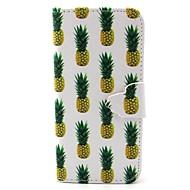 tanie Etui / Pokrowce do Samsung-ananas wzór pu skóra przypadku gniazda karty i stań do Samsung Galaxy S4 mini / s3mini / s5mini / S3 / S4 / S5 / S6 / s6edge