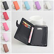 Недорогие Чехлы и кейсы для Galaxy Note-Для Samsung Galaxy Note Кошелек / Бумажник для карт / со стендом / Флип Кейс для Чехол Кейс для Один цвет Искусственная кожа SamsungNote