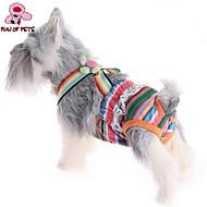 お買い得  -ネコ 犬 パンツ 犬用ウェア 縞柄 ランダムカラー コットン コスチューム ペット用 コスプレ 結婚式