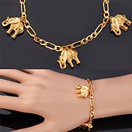 halpa -Naisten Amuletti-rannekorut Rannerengas Muoti Gold Plated Metalliseos Elefantti Animal Korut Joululahjat Häät Party Erikoistilaisuus