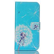 Для Кейс для  Samsung Galaxy Бумажник для карт / Кошелек / со стендом / Флип Кейс для Чехол Кейс для Одуванчик Искусственная кожа Samsung