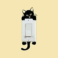 벽 스티커 벽 데칼 스타일 고양이 스위치 PVC 벽 스티커