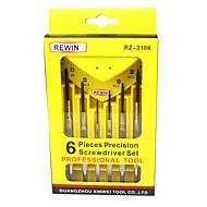 rewin®ツール6本セットスクリュードライバーは手のツールセットを設定する時を測る機器