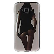 Недорогие Чехлы и кейсы для Galaxy J1-Кейс для Назначение SSamsung Galaxy Кейс для  Samsung Galaxy IMD Кейс на заднюю панель Соблазнительная девушка ТПУ для J7 / J5 / J1