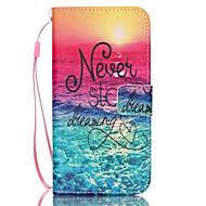 halpa Galaxy S5 Mini kotelot / kuoret-Etui Käyttötarkoitus Samsung Galaxy Samsung Galaxy kotelo Korttikotelo Lomapkko Tuella Flip Suojakuori Sana / lause PU-nahka varten S6