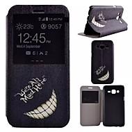 Для Кейс для  Samsung Galaxy со стендом / с окошком Кейс для Чехол Кейс для Черный и белый Искусственная кожа Samsung J5