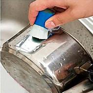abordables Escobillas y cepillos de mano-Cocina Limpiando suministros El plastico Cepillo y Trapo de Limpieza Utensilios 2pcs