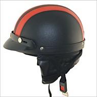 carking motocicleta xt02 pu casco de cuero (m)
