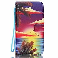 Для Кейс для  Samsung Galaxy Чехлы панели Бумажник для карт Кошелек со стендом Флип Чехол Кейс для Пейзаж Искусственная кожа для Samsung