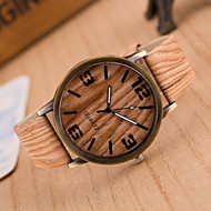 cheap Watch Deals-Simulation Wooden Quartz Men Watches Casual Wooden Color Leather Strap Watch Wood Male Wristwatch Cool Watches Unique Watches Fashion Watch