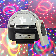 MP3 Voice diamond crystal ball self-propelled voice MP3 player 3W * 6LED lamp beads six-color wide voltage