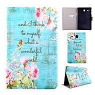 Для Кейс для  Samsung Galaxy Бумажник для карт / со стендом / Флип / С узором Кейс для Чехол Кейс для Слова / выражения Искусственная кожа
