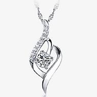 Dámské Přívěšky - Stříbro dámy Stříbrná Náhrdelníky Šperky Pro Svatební, Denní, Ležérní, Sport, Plesová maškaráda, Zásnuby