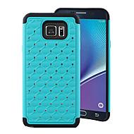 Недорогие Чехлы и кейсы для Galaxy Note-Для Samsung Galaxy Note Защита от удара / Стразы Кейс для Задняя крышка Кейс для Геометрический рисунок PC Samsung Note 5