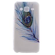 Для Кейс для  Samsung Galaxy С узором Кейс для Задняя крышка Кейс для Перо TPU Samsung J5 / J1
