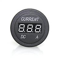 digital de alta calidad led rojo amperímetro indicador luminoso para la motocicleta del coche 12 / 24V automático de medición toma de