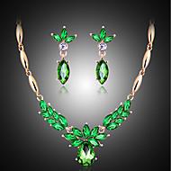 billige Smykker & Klokker-Smykkesett - Perle, Kubisk Zirkonium Vintage, Fest, Mote Inkludere Smaragd Til Fest / Spesiell Leilighet / jubileum / Øreringer / Halskjeder