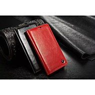Недорогие Чехлы и кейсы для Galaxy Note-Кейс для Назначение SSamsung Galaxy Samsung Galaxy Note Бумажник для карт Кошелек со стендом Флип Чехол Сплошной цвет Кожа PU для Note 4