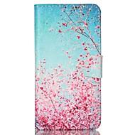 billige Galaxy S4 Etuier-For Samsung Galaxy etui Pung Kortholder Med stativ Flip Etui Heldækkende Etui Træ Kunstlæder for SamsungS6 S5 Mini S5 S4 Mini S4 S3 Mini