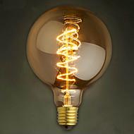 e27 40w g125 wire bar boble dragon edison retro dekorative lampe filament