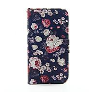 billige Etuier til Samsung-Etui Til Samsung Galaxy Samsung Galaxy etui Kortholder Pung Med stativ Flip Fuldt etui Blomst PU Læder for S5 S4 S3