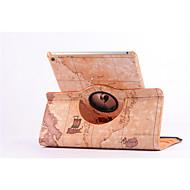 billige Etuier og covers til iPad-verdenskortet 360⁰ tilfælde design stå funktion af høj kvalitet pu læder taske til ipad luft 2 (assorteret farve)
