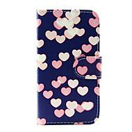 Для Кейс для  Samsung Galaxy Бумажник для карт / Кошелек / со стендом / Флип Кейс для Чехол Кейс для С сердцем Искусственная кожа Samsung