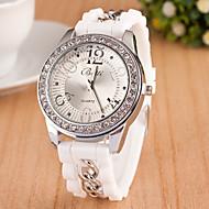 levne -Dámské Náramkové hodinky Křemenný Silikon Černá / Bílá / Modrá Žhavá sleva Analogové dámy Přívěšky Na běžné nošení Módní - Modrá Růžová Světle modrá
