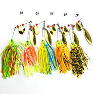 お買い得  釣り用アクセサリー-4 個 ソフトベイト ルアー バズベイト&スピナーベイト ソフトベイト メタル シリコン 海釣り 一般的な釣り ルアー釣り